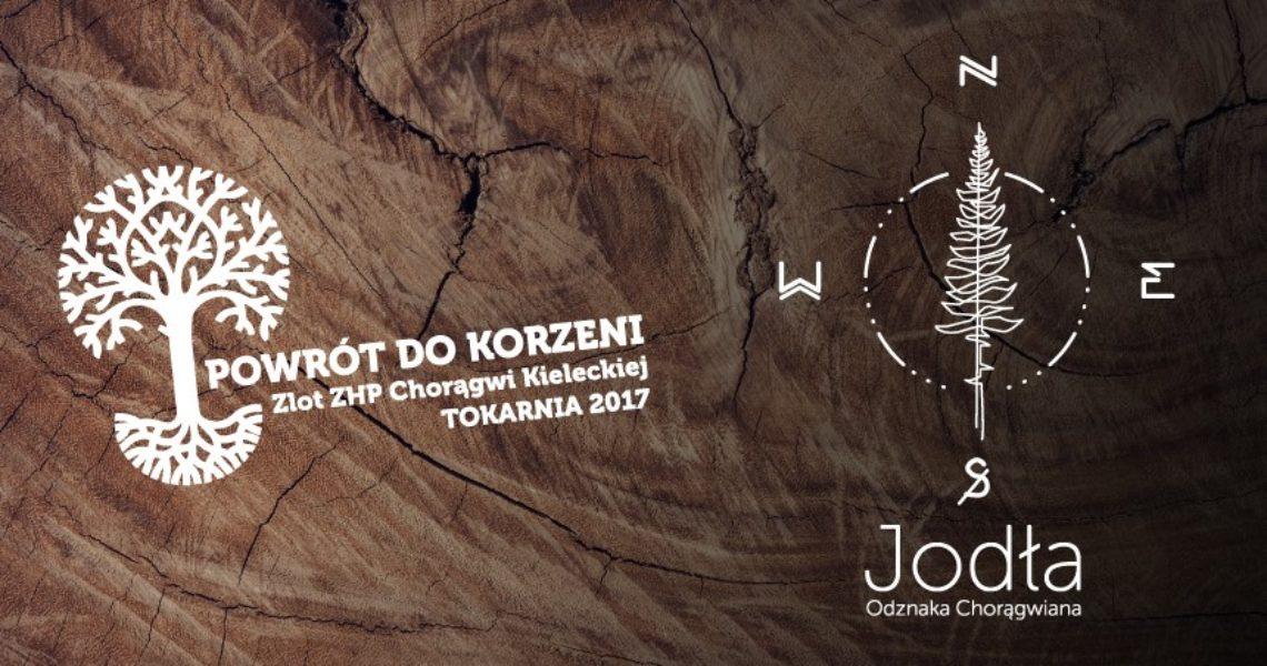 """Zlot Chorągwi """"Powrót do korzeni"""" w Tokarni Odznaka Chorągwiana """"Jodła"""""""